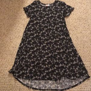 Black & Gray LulaRoe Carly Dress
